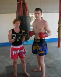 Muay Thai guests from Finland.