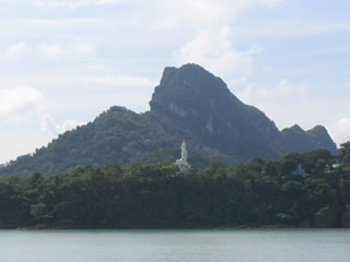 view of Big Buddha monument from sea