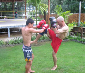 Muay Thai training technique photo
