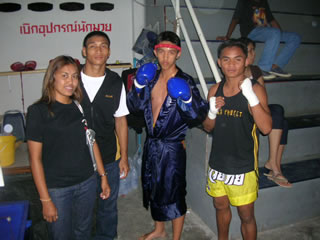 Thai fighters @ stadium before the fight.