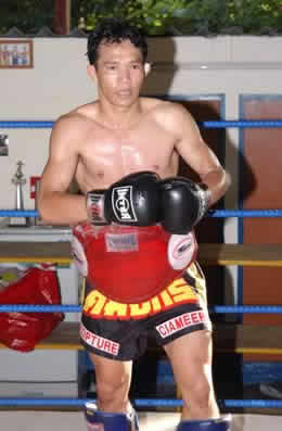 Male Muay Thai fighter.