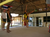 practice kicking martial arts