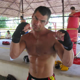 Muay Thai training camp guest