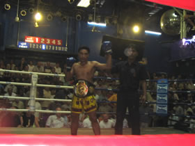 Muay Thai title championship fight, Patong, Thailand.