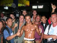 Winning a Muay Thai fight @ patong