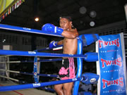 Muay Thai champion fighter