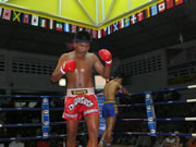 Thai fighter performing