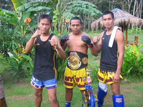 Muay Thai trainers and fighters