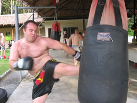 Cardio Muay Thai training photos.
