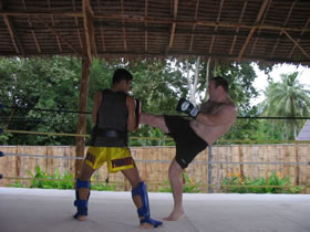 Muay Thai training photos